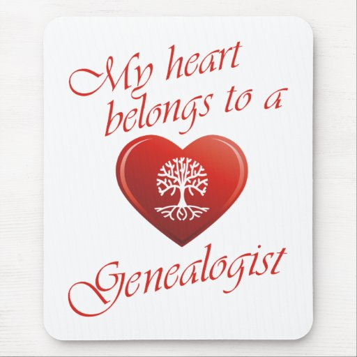 Mi corazón pertenece a un Genealogist Alfombrilla De Raton