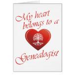Mi corazón pertenece a un Genealogist Felicitacion