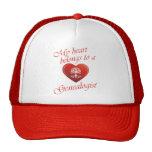 Mi corazón pertenece a un Genealogist Gorras De Camionero