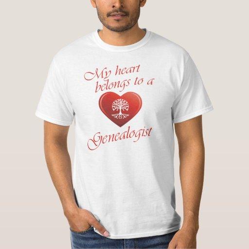 Mi corazón pertenece a un Genealogist Polera