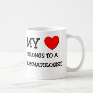 Mi corazón pertenece a un GRAMMATOLOGIST Tazas De Café
