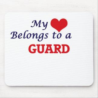 Mi corazón pertenece a un guardia alfombrilla de ratones