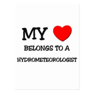 Mi corazón pertenece a un HYDROMETEOROLOGIST Postal
