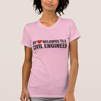 Mi corazón pertenece a un ingeniero civil polera