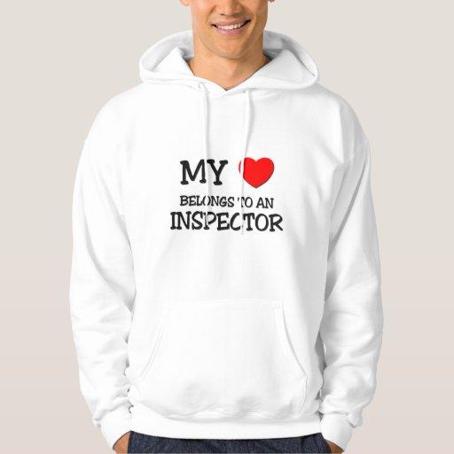 Mi corazón pertenece a un INSPECTOR Sudadera Con Capucha