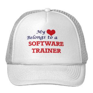 Mi corazón pertenece a un instructor del software gorras