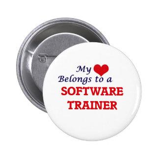 Mi corazón pertenece a un instructor del software pin redondo de 2 pulgadas