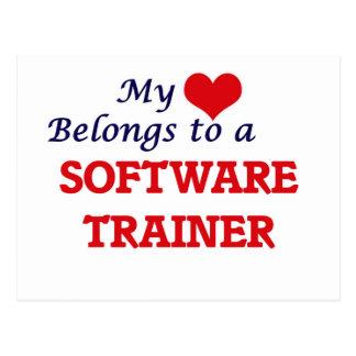 Mi corazón pertenece a un instructor del software tarjetas postales