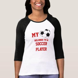 Mi corazón pertenece a un jugador de fútbol polera