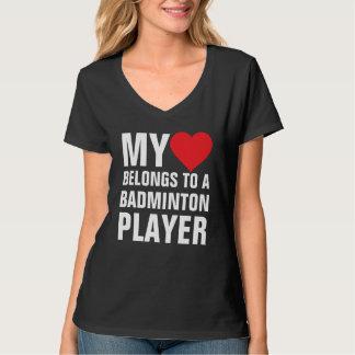 Mi corazón pertenece a un jugador del bádminton poleras
