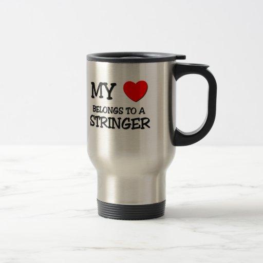 Mi corazón pertenece a un LARGUERO Tazas De Café