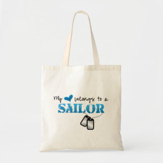 Mi corazón pertenece a un marinero bolsa tela barata