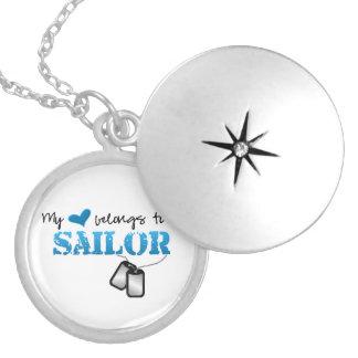 Mi corazón pertenece a un marinero collar con colgante