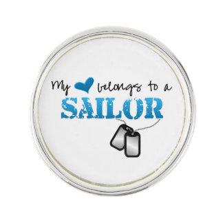 Mi corazón pertenece a un marinero pin