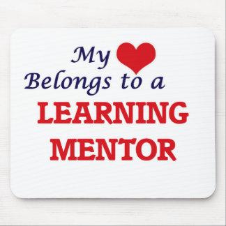 Mi corazón pertenece a un mentor de aprendizaje alfombrilla de ratón