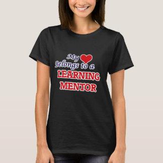 Mi corazón pertenece a un mentor de aprendizaje playera