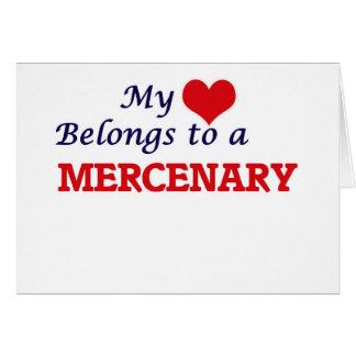 Mi corazón pertenece a un mercenario tarjeta de felicitación