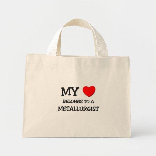 Mi corazón pertenece a un METALÚRGICO Bolsas De Mano