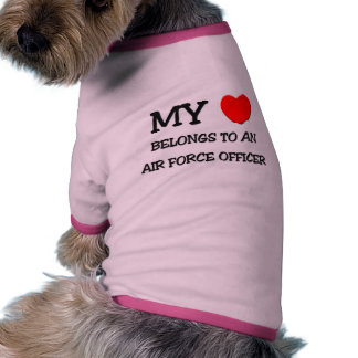 Mi corazón pertenece a un OFICIAL de FUERZA AÉREA Camisetas De Mascota