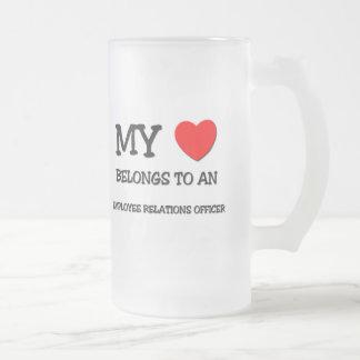 Mi corazón pertenece a un OFICIAL de las RELACIONE Taza De Café