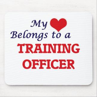 Mi corazón pertenece a un oficial del tapete de ratón