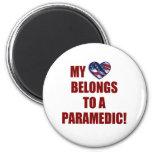 Mi corazón pertenece a un paramédico imán para frigorífico