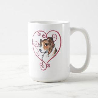 Mi corazón pertenece a un pastor inglés taza de café