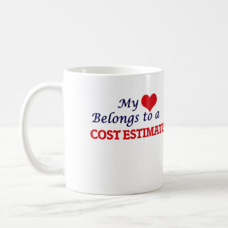 Mi corazón pertenece a un perito del coste taza de café