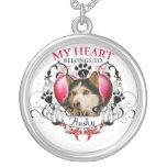 Mi corazón pertenece a un perro esquimal collares personalizados