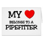 Mi corazón pertenece a un PIPEFITTER Tarjeton