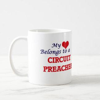 Mi corazón pertenece a un predicador del circuito taza de café