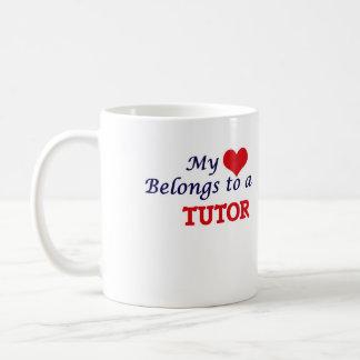 Mi corazón pertenece a un profesor particular taza de café