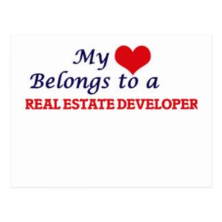 Mi corazón pertenece a un promotor inmobiliario tarjetas postales
