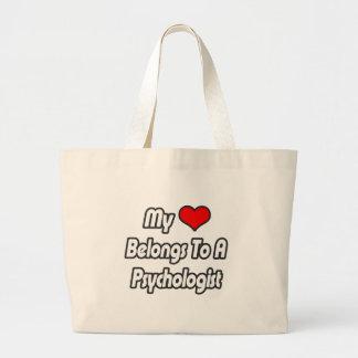 Mi corazón pertenece a un psicólogo bolsas de mano