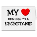 Mi corazón pertenece a un SECRETARIE Tarjetón