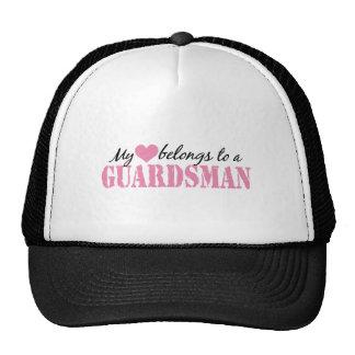 Mi corazón pertenece a un soldado de la guardia gorras de camionero