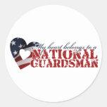 Mi corazón pertenece a un soldado de la guardia na etiqueta