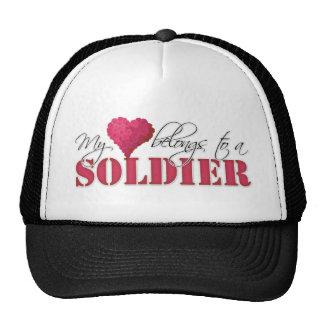Mi corazón pertenece a un soldado gorras