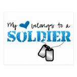Mi corazón pertenece a un soldado postales