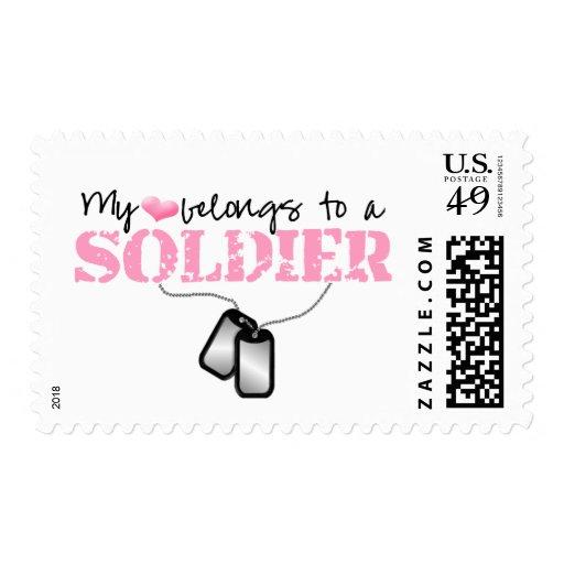 Mi corazón pertenece a un soldado sello