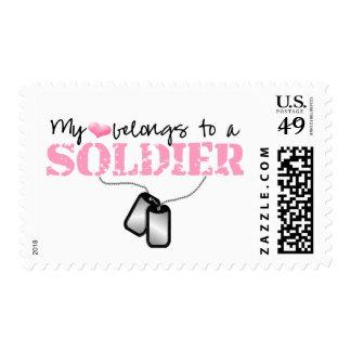 Mi corazón pertenece a un soldado sellos