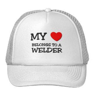 Mi corazón pertenece a un SOLDADOR Gorras De Camionero