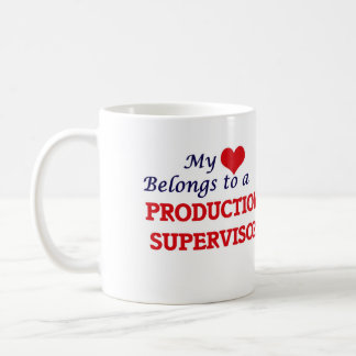 Mi corazón pertenece a un supervisor de la taza de café