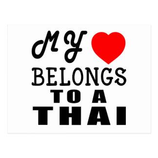 Mi corazón pertenece a un tailandés postal