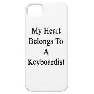 Mi corazón pertenece a un teclista iPhone 5 Case-Mate funda
