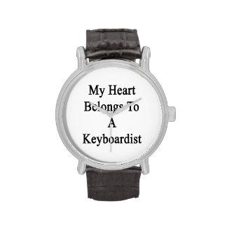 Mi corazón pertenece a un teclista relojes