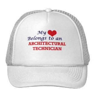 Mi corazón pertenece a un técnico arquitectónico gorro de camionero