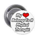 Mi corazón pertenece a un terapeuta físico pin