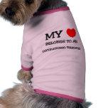 Mi corazón pertenece a un TERAPEUTA PROFESIONAL Camisetas De Perrito