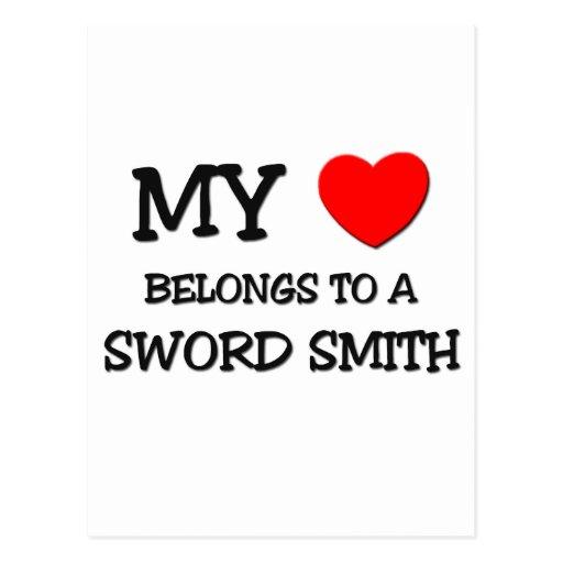 Mi corazón pertenece a una ESPADA SMITH Postales